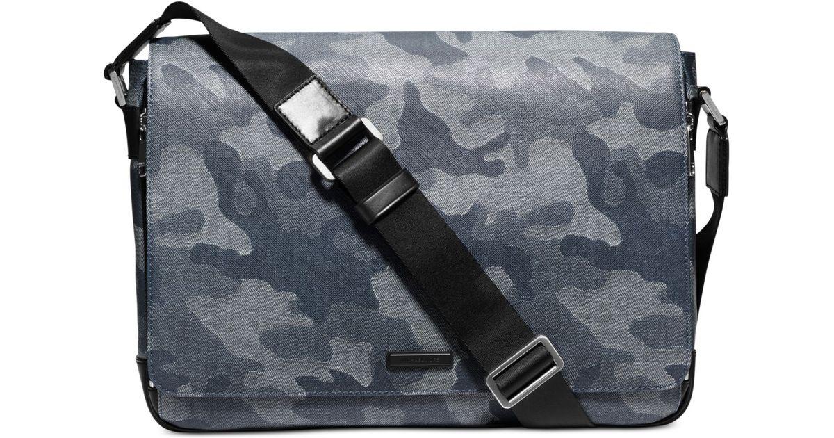 1ca73559f58c Michael Kors Men'S Jet Set Denim Camo Large Messenger Bag in Blue for Men -  Lyst