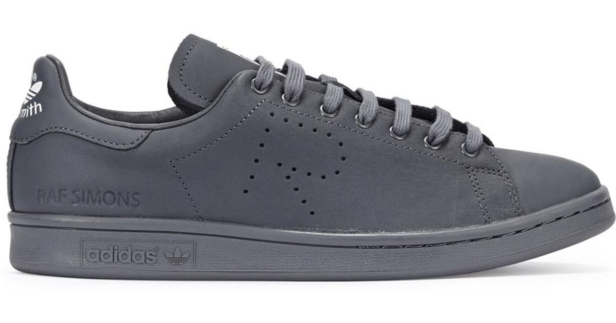 brand new 2cef7 50888 adidas By Raf Simons Stan Smith Leather Sneakers in Gray - L