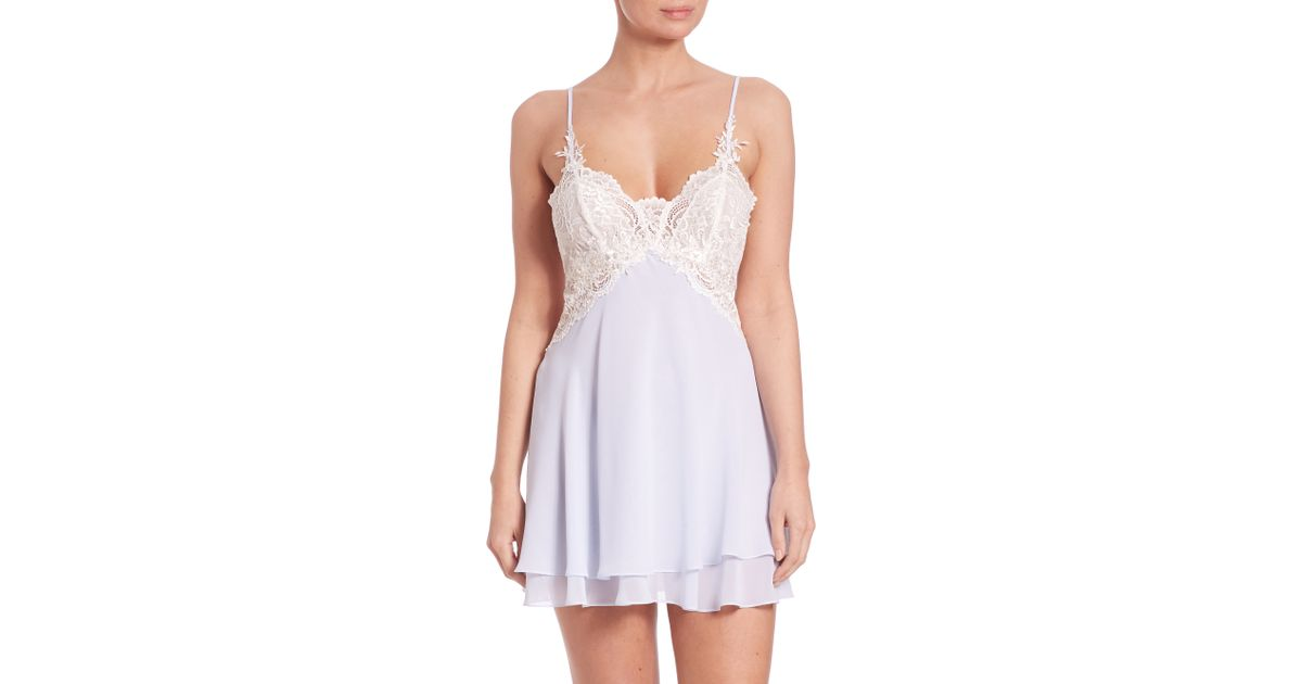 Lyst - Jonquil Caroline Chemise in Blue ccdf73233