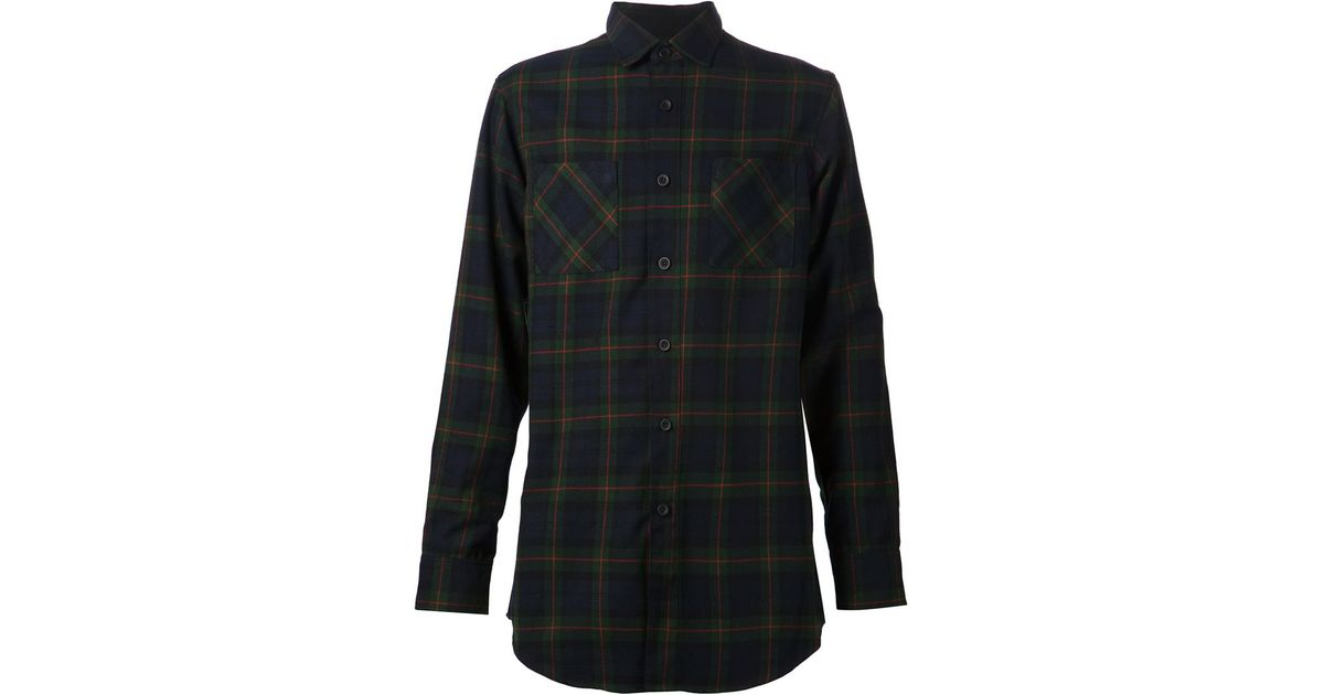 1b4bed4056 Lyst - Fear Of God Plaid Shirt in Green for Men
