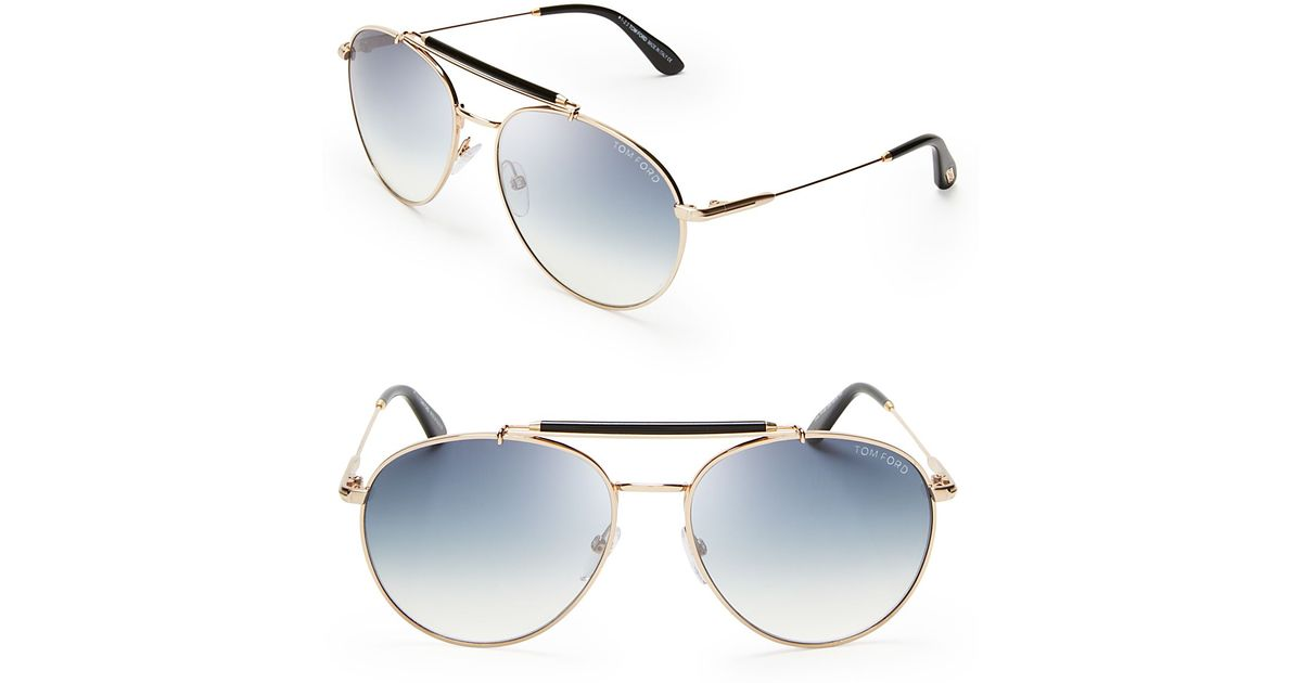 5239f10bf Tom Ford Colin Aviator Sunglasses in Metallic for Men - Lyst