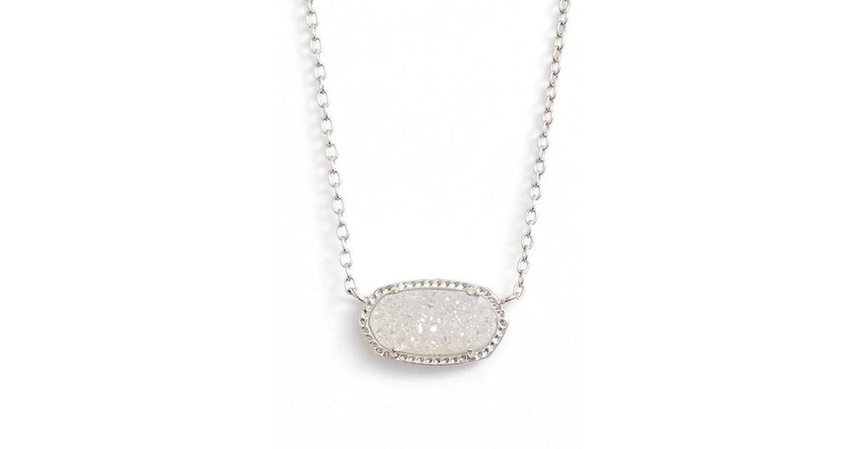 Kendra Scott Elisa Pendant Necklace In Metallic Lyst