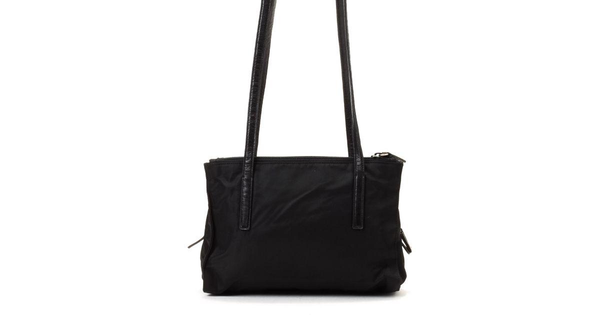 6cffa91264 Lyst - Prada Black Shoulder Bag - Vintage in Black