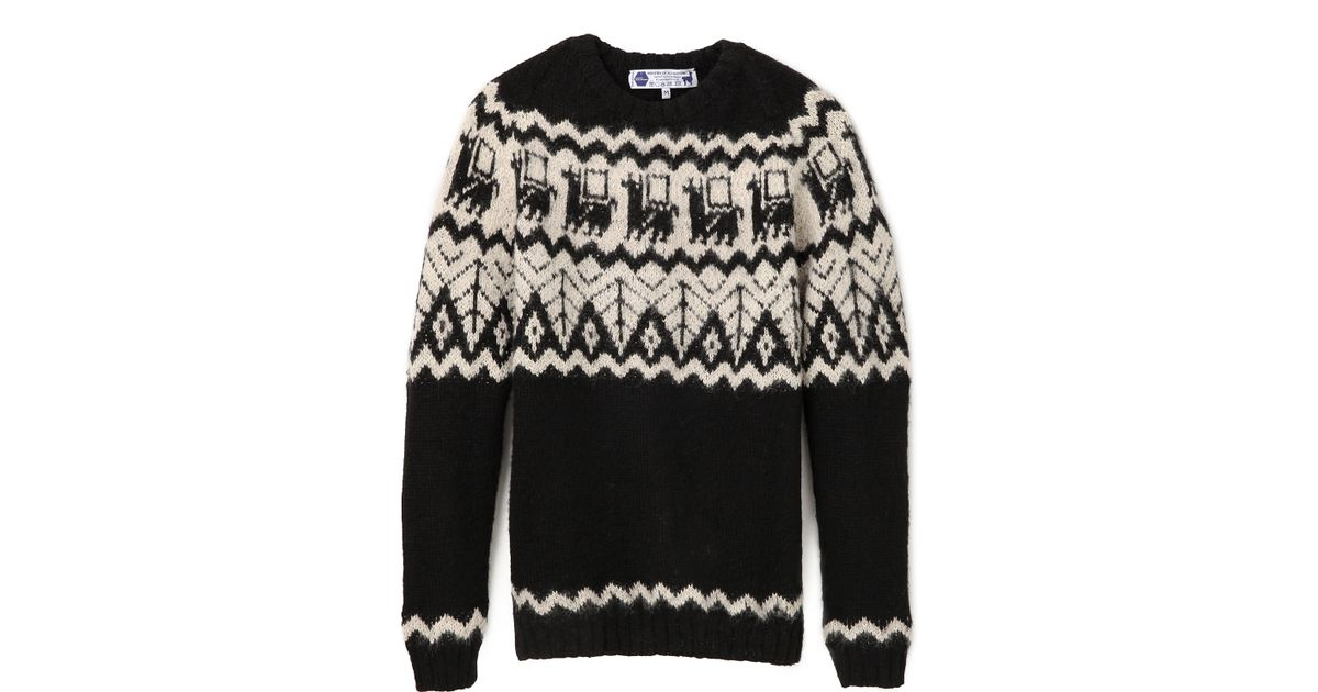 8969bd6a96 Lyst - Industry Of All Nations Alpaca Hand Knit Sweater in White for Men