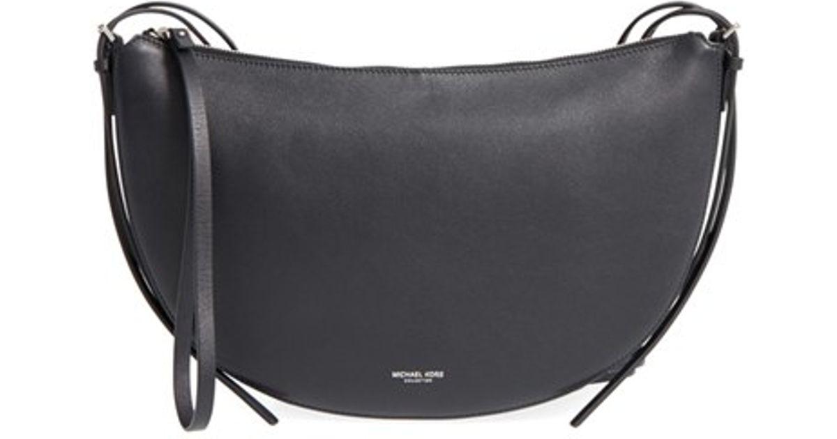 718ff7bf4785 Lyst - Michael Kors Medium Sedona Leather Shoulder Bag in Black