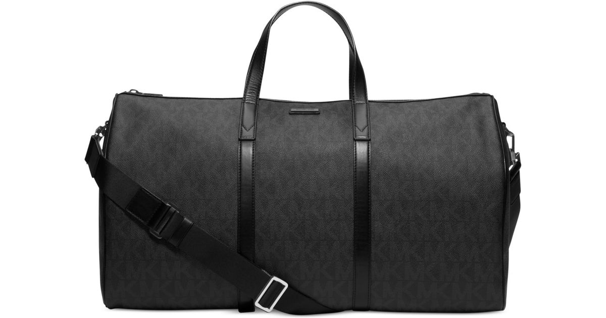 47e1ceaa8ed4 Lyst - Michael Kors Signature Logo Jet Set Travel Duffle Bag in Black for  Men