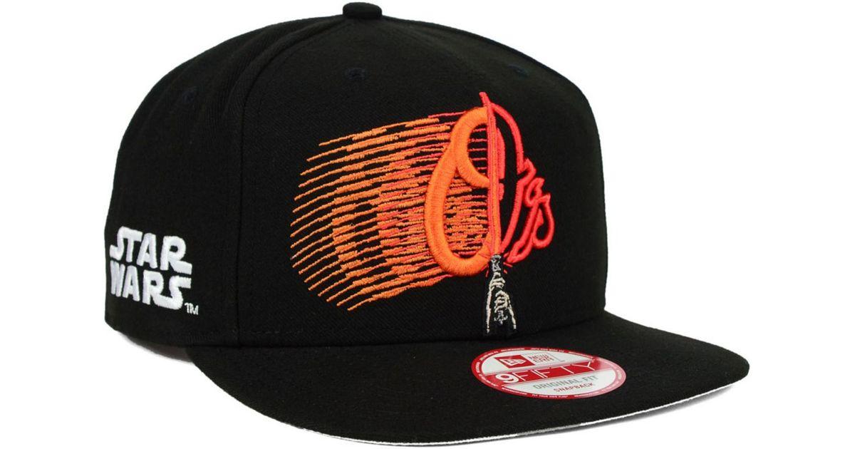 hot sales 44623 c072e ... usa lyst ktz baltimore orioles star wars logoswipe 9fifty snapback cap  in black for men 2e7aa ...