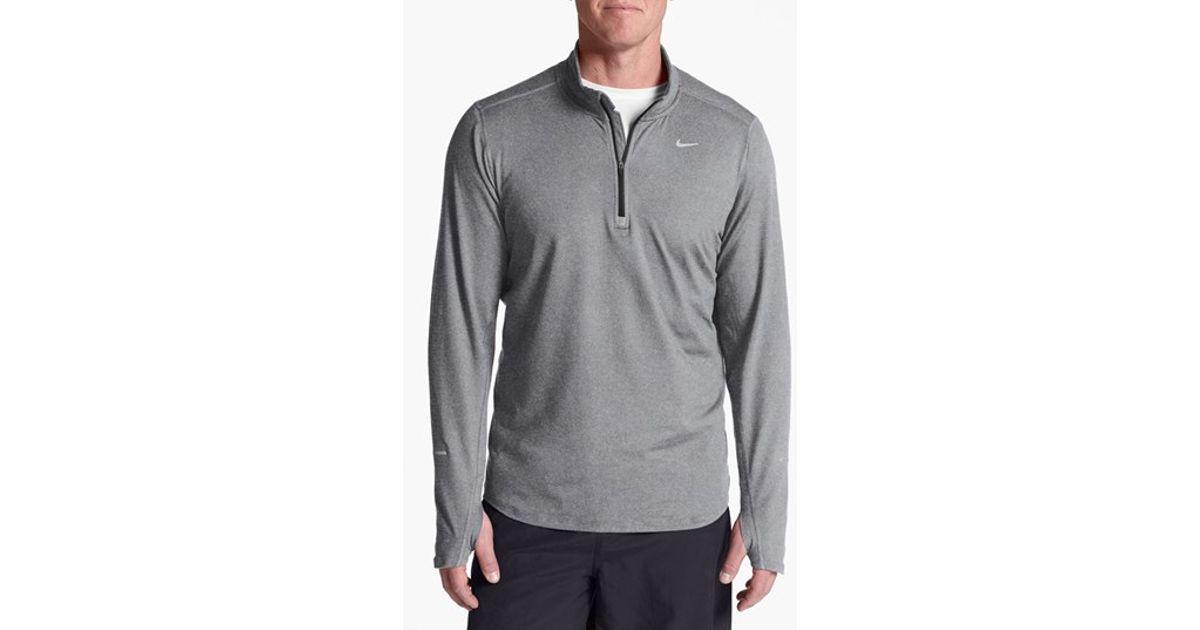 26edeb5ad Nike 'element' Dri-fit Half Zip Running Top in Gray for Men - Lyst