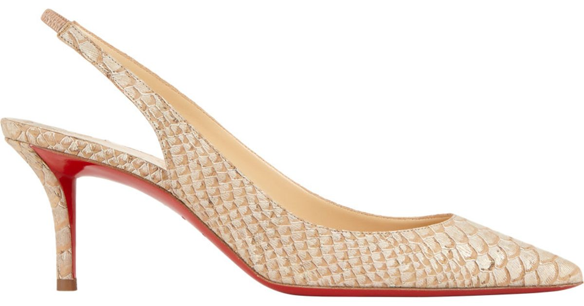 fake christian louboutins online - christian louboutin bow-embellished slingback sandals, christian ...