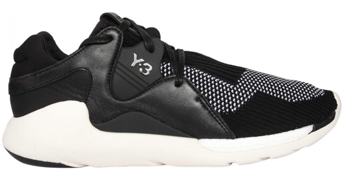 ccb937b11c894 Y-3 Yohji Boost Qr Knit Sneakers Black white in Black for Men - Lyst