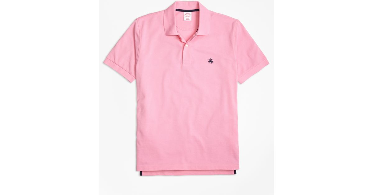 46cbe3562 Brooks Brothers Golden Fleece® Original Fit Performance Polo Shirt in Pink  for Men - Lyst