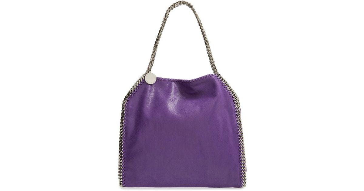 Lyst - Stella McCartney  falabella - Small  Shaggy Deer Tote - Purple in  Purple 59769cd13a555