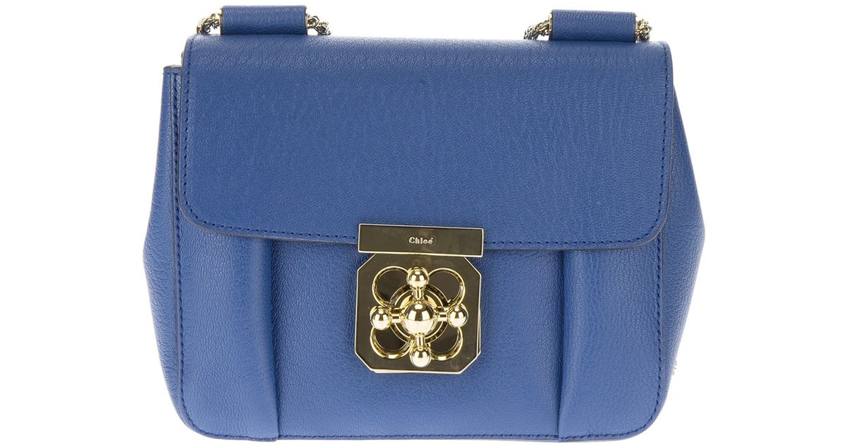 23481e575 Chloé Small 'Elsie' Shoulder Bag in Blue - Lyst