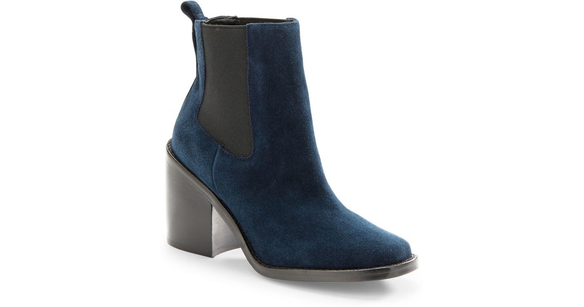 lord koallan suede ankle boots in blue navy blue