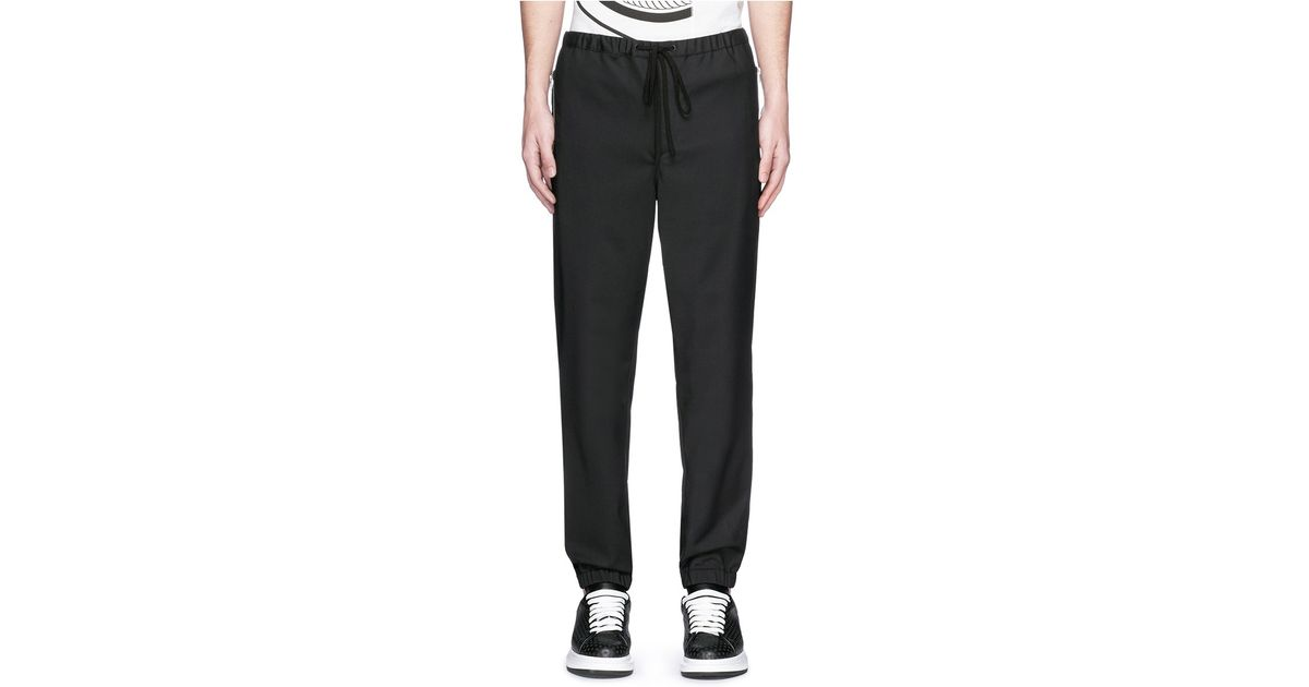 Elegant STONE ISLAND 611565420 Black Cuffed Jogging Pants  STONE ISLAND From