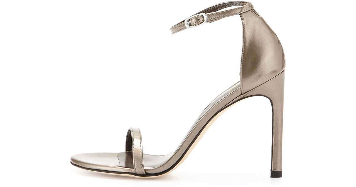 Stuart Weitzman Metallic Leather Sandals sale limited edition discount wholesale deals online supply for sale cheap sale factory outlet 4husU