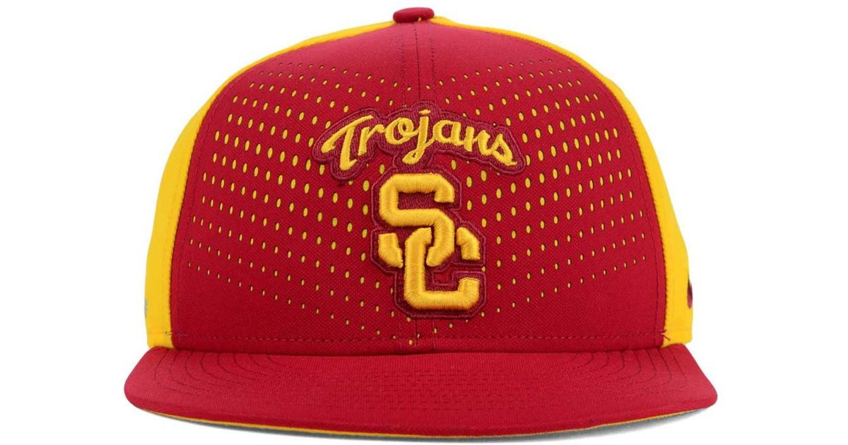 sports shoes a9110 fe3ca ... netherlands lyst nike usc trojans true seasonal snapback cap in red for  men 46e04 6a8da