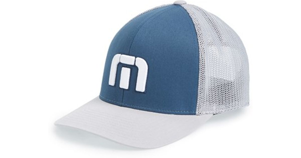 35a38923e6e ... coupon code for travis mathew sure thing snapback hat in blue for men  lyst 708c9 6214b