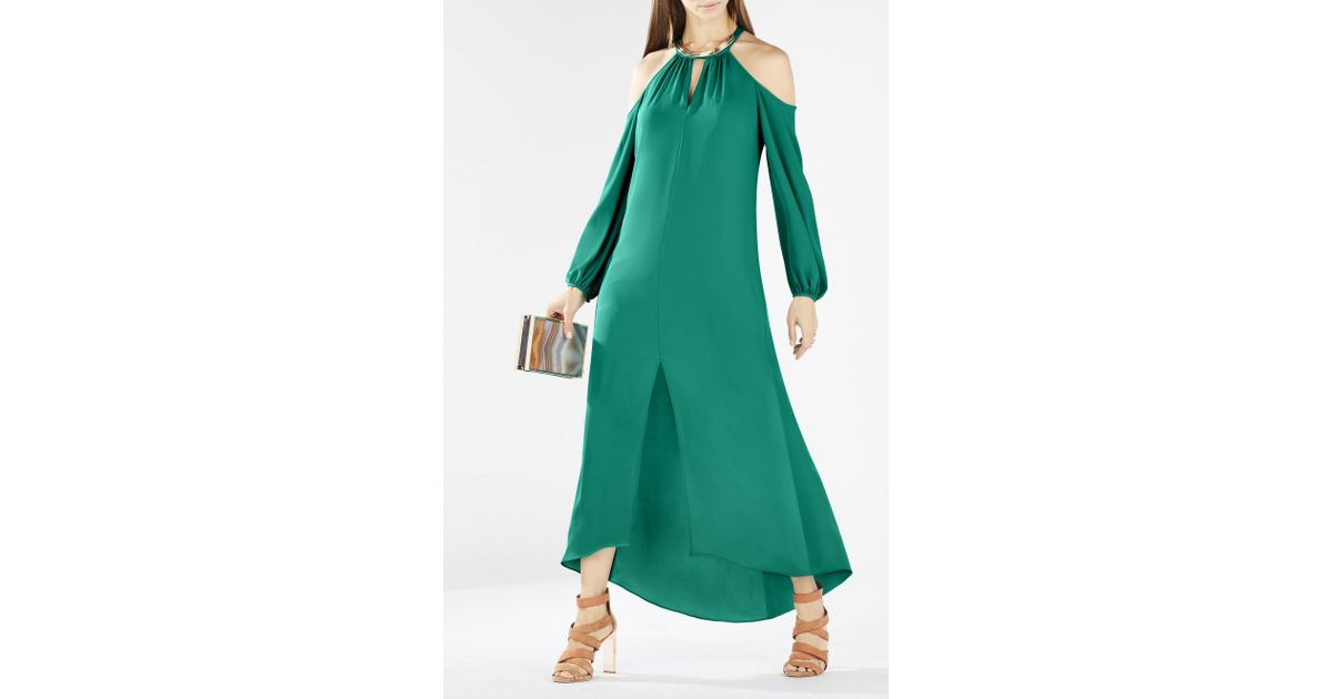 Bcbgmaxazria halter maxi dress