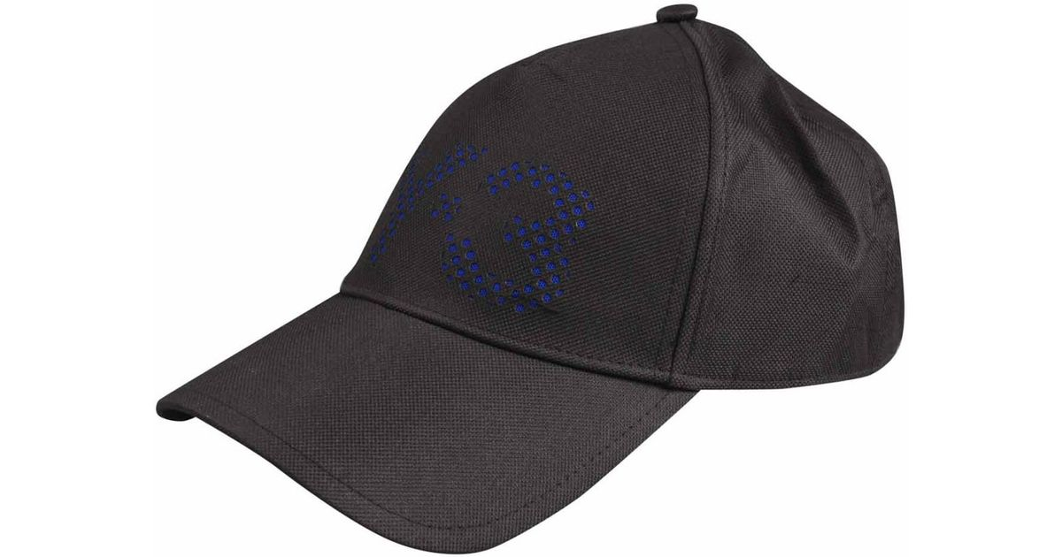 db0e4552e7436 Y-3 Black   Blue Perforated Logo Cap in Black for Men - Lyst