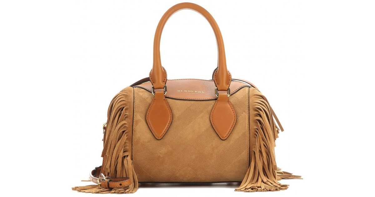 36004a193650 Burberry Prorsum The Small Alchester Leather Bowling Bag in Brown - Lyst