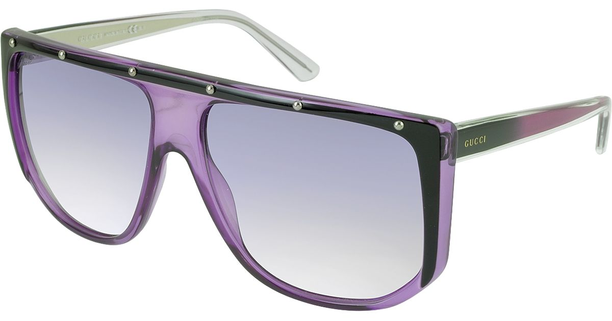 d09ba12eb51 Lyst - Gucci Gg 3705 s 9w2dh Large Shaded Mask Women s Sunglasses in Purple