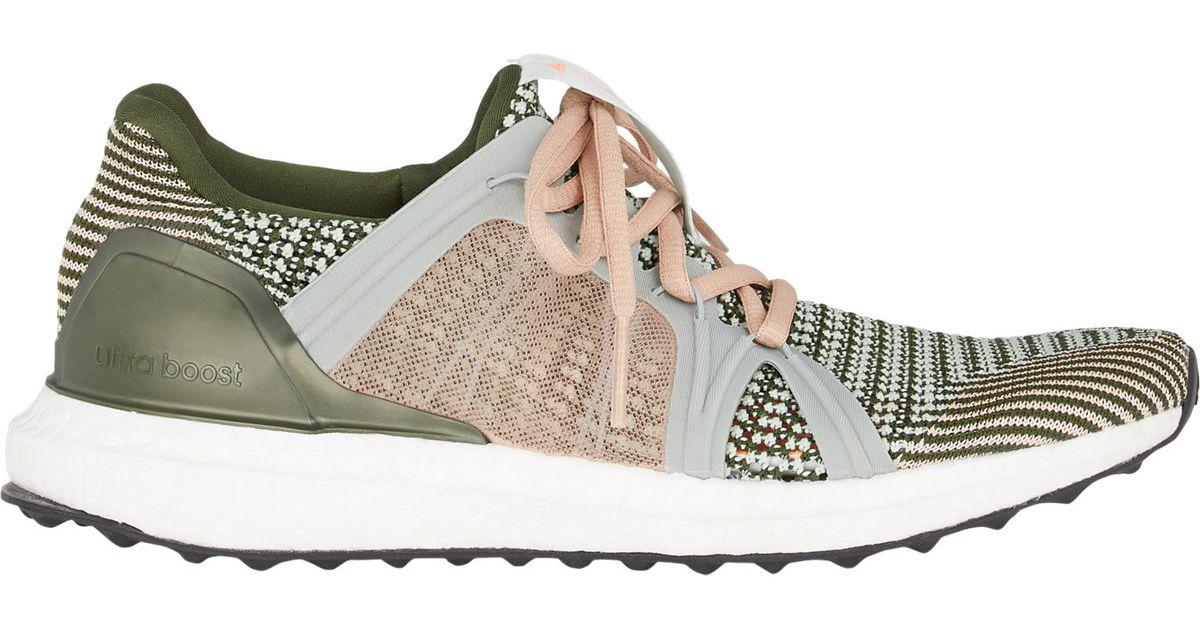Lyst - adidas By Stella McCartney Women s Crochet-knit Running Sneakers in  Green 412357b3d3
