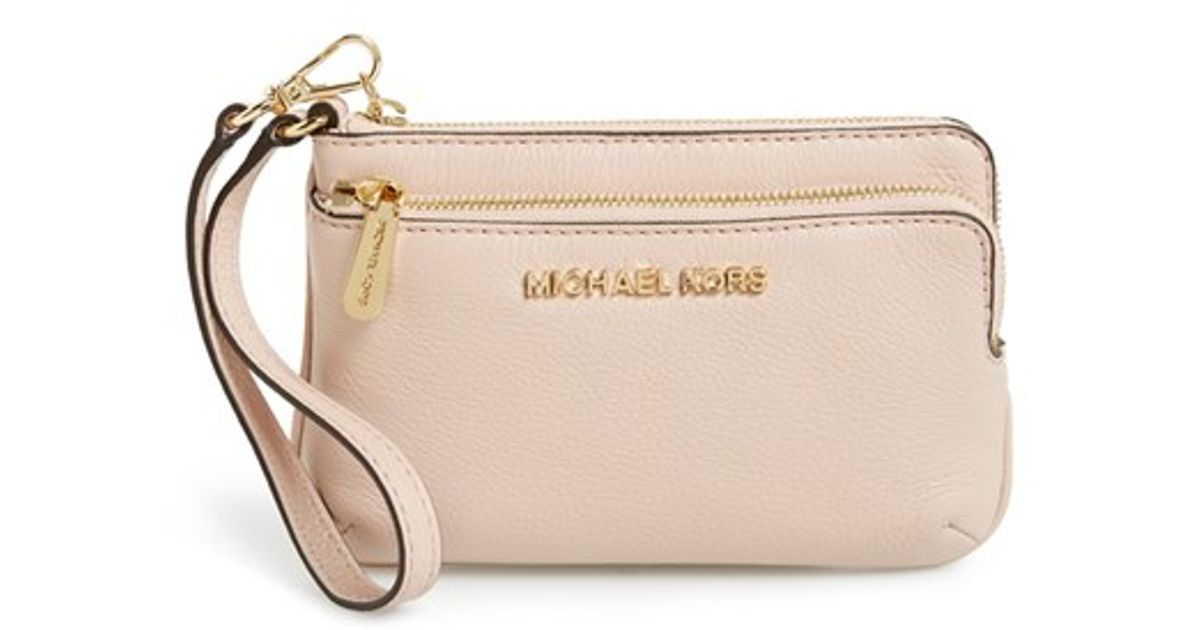 f47ea616963c MICHAEL Michael Kors 'small Bedford' Leather Wristlet in Pink - Lyst