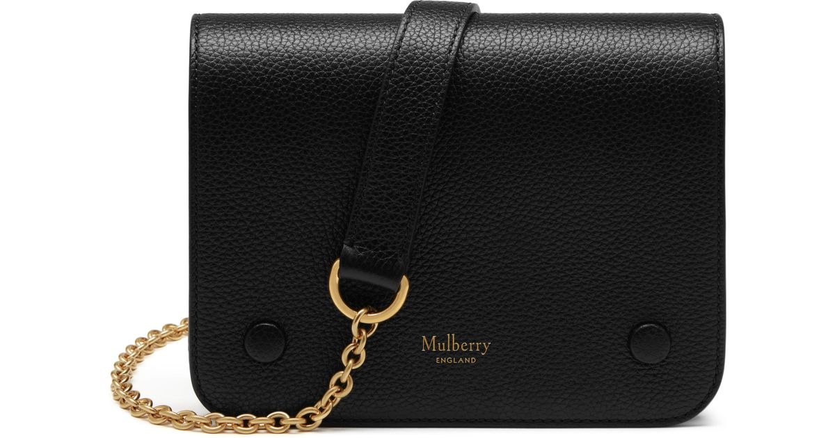b38f830571c Lyst - Mulberry Clifton Leather Shoulder Bag in Black