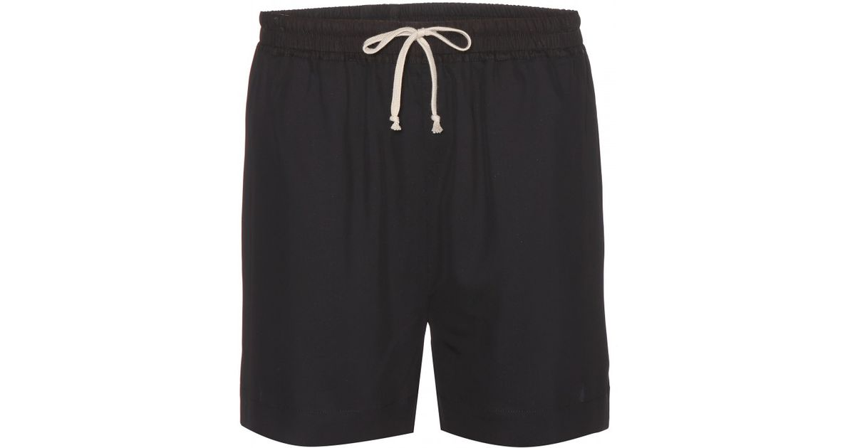 459d4aeba27f Rick Owens Plain Boxers Shorts in Black - Lyst