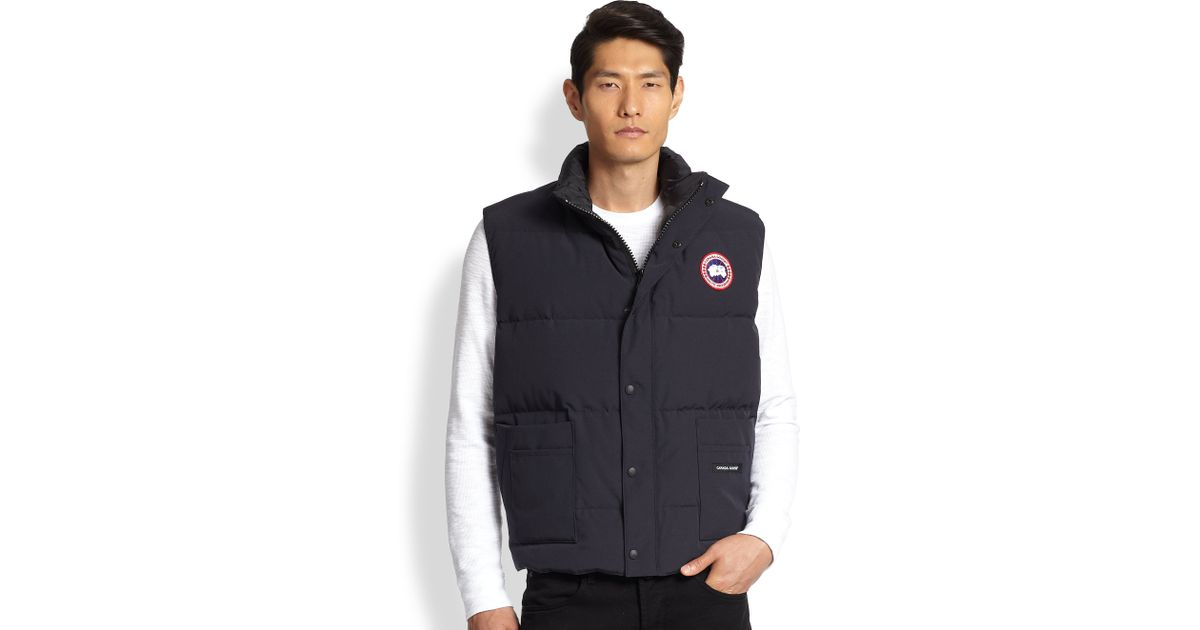 Canada Goose Freestyle Puffer Vest In Blue For Men Lyst