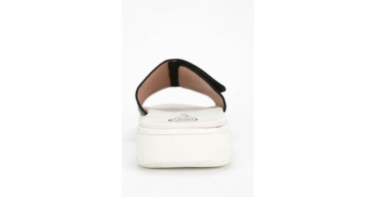 a195b385159c Lyst - Jeffrey Campbell Enfiler Leather Slide Sandal in Black