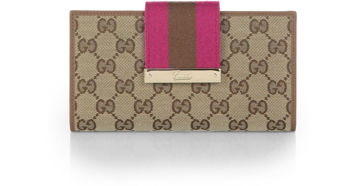 d9ab4bf897d Lyst Gucci Las Original Gg Canvas Continental Wallet In Brown