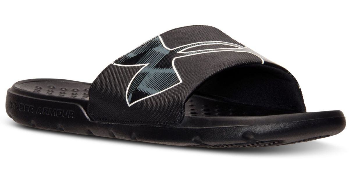 054109ee9 Under Armour Men's Strike Warp Slide Sandals From Finish Line in Black for  Men - Lyst