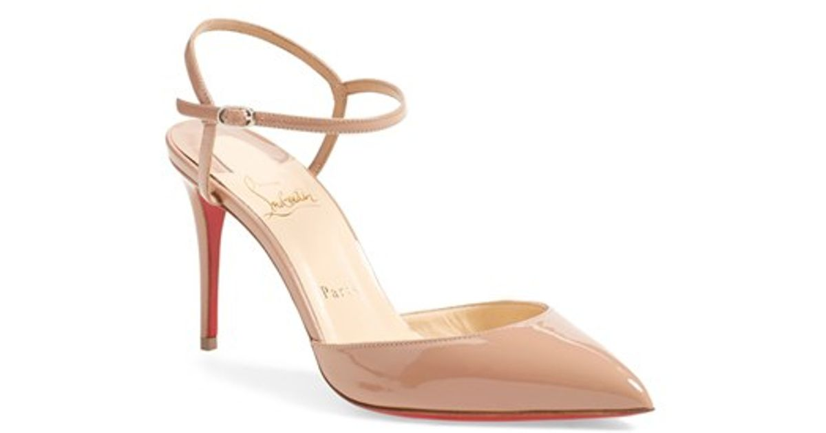 74a05ae57a9 Lyst - Christian Louboutin Rivierina Patent Leather Pumps in Natural