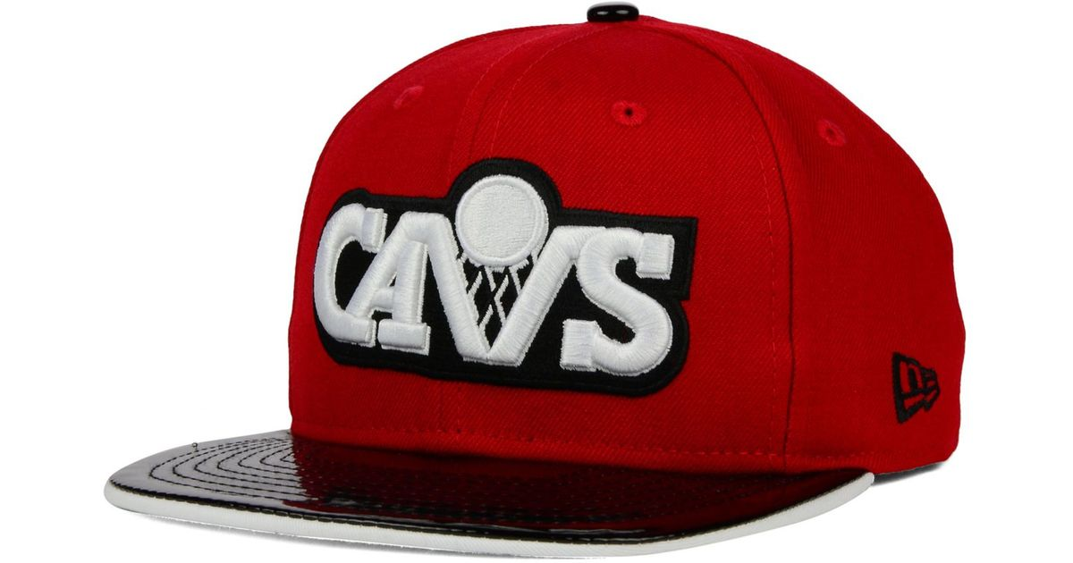 sale retailer bb62f 29623 ... italy lyst ktz cleveland cavaliers bred hookup 9fifty snapback cap in  red for men b824d 47e66
