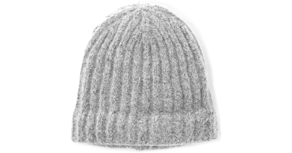 Lyst - Norse Projects Charcoal Rib Alpaca-blend Beanie Hat in Gray for Men 29d4ef1cf235
