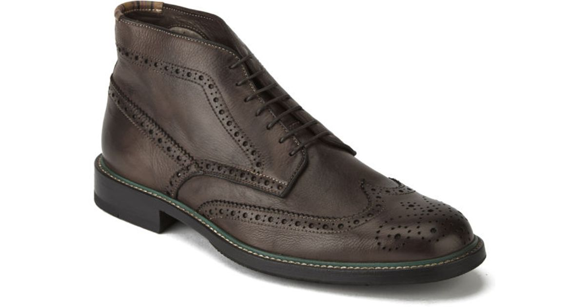 Paul Smith Mens Grayson Leather Brogue Boots in Brown for Men - Lyst 7da026444