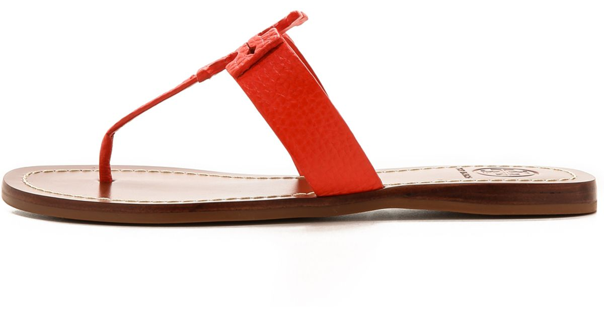 4d480a145e9c1 Tory Burch Moore Thong Sandals - Black in Red - Lyst
