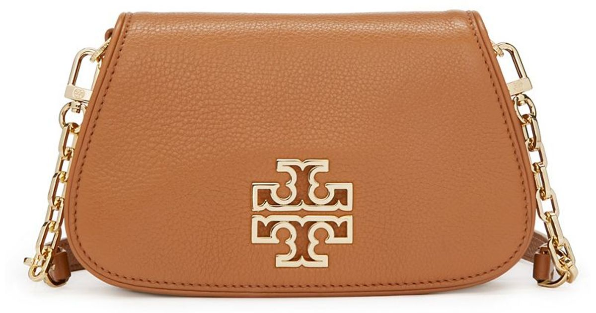 934e0b800b9 Lyst - Tory Burch Britten Mini Cross-body in Brown