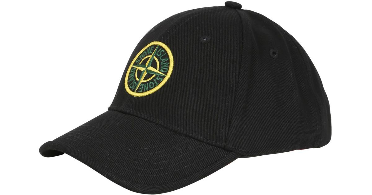Stone Island Cotton Gabardine Baseball Cap in Black for Men - Lyst 4b6bc6ecfe1