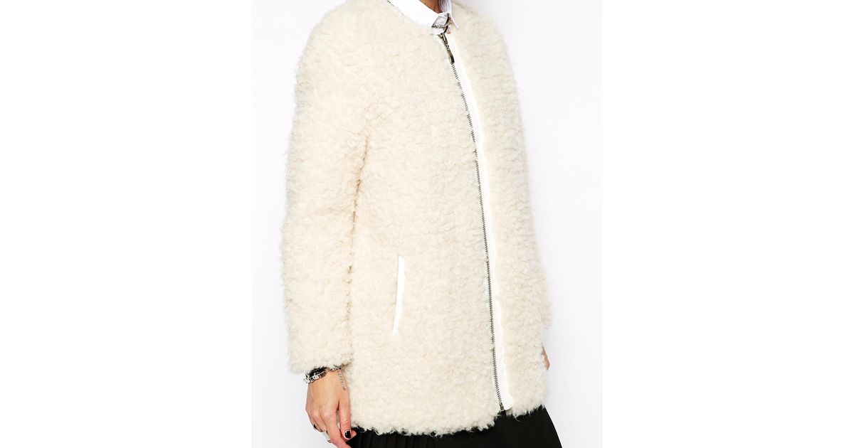 Boucle Fluffy In Eleven Natural Paris Flavy Lyst Coat f4wTq