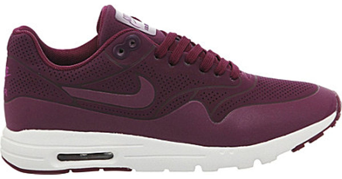 quality design 36c95 b8270 Nike Air Max 1 Ultra Moire Trainers, Women s, Size  5, Mulberry Purple in  Purple - Lyst