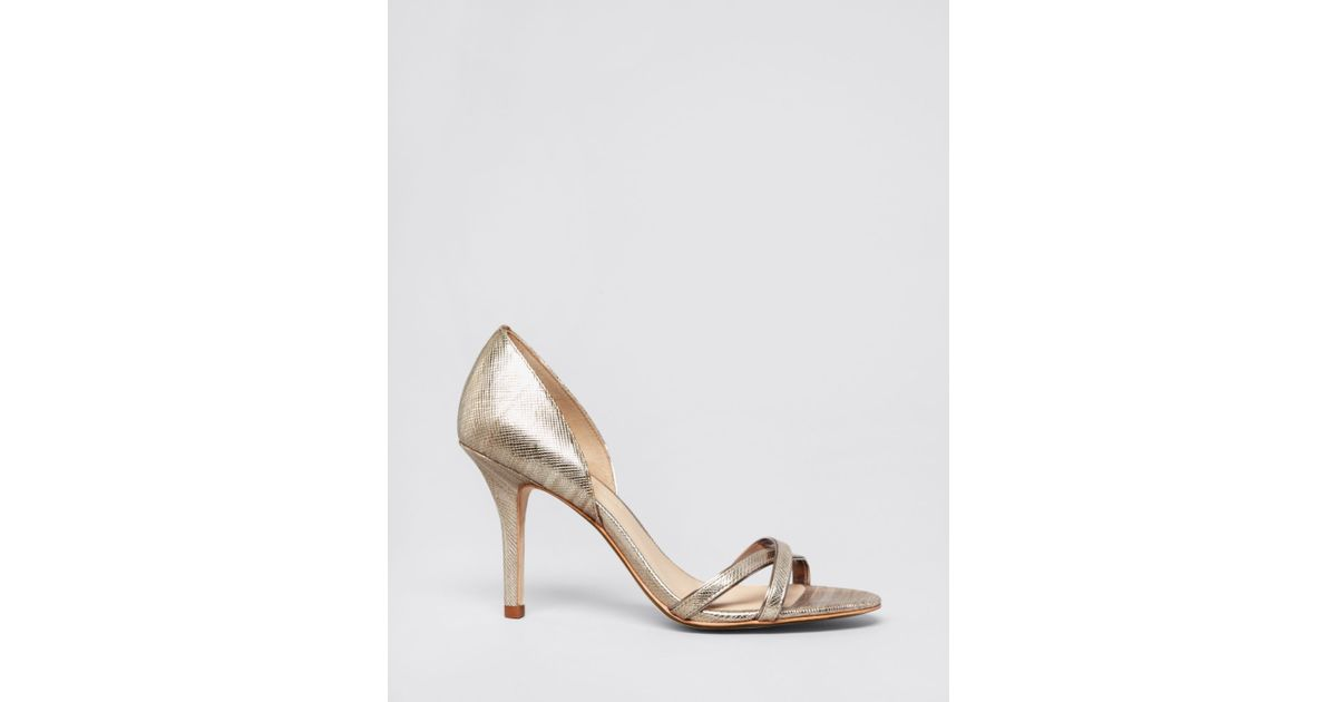 b78a7290da9a Lyst - Aerin Open Toe D Orsay Evening Sandals - Cocobay High Heel in  Metallic