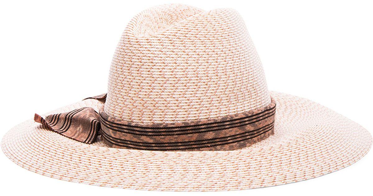 7f00f136 Lyst - Baja East X Gigi Burris Straw Hat in Pink