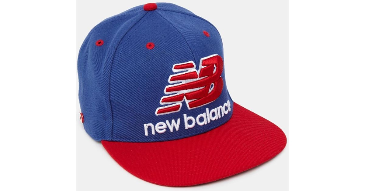 Lyst - New Balance Courtside Snapback Cap in Blue for Men ee550677223