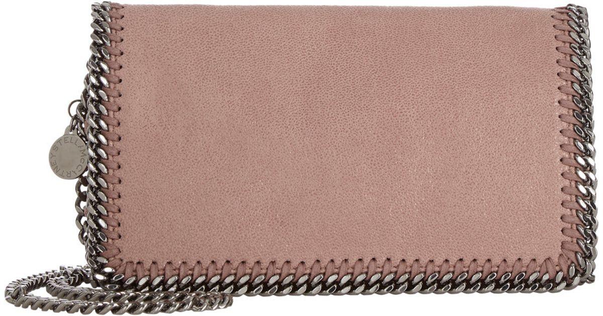 12130b6958 Stella Mccartney Falabella Shaggy Deer Shoulder Bag in Pink - Lyst