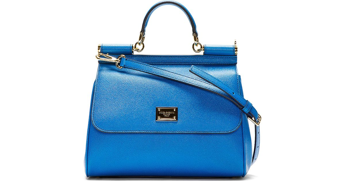 13131935fa Lyst - Dolce   Gabbana Royal Blue Leather Small Miss Sicily Shoulder Bag in  Blue
