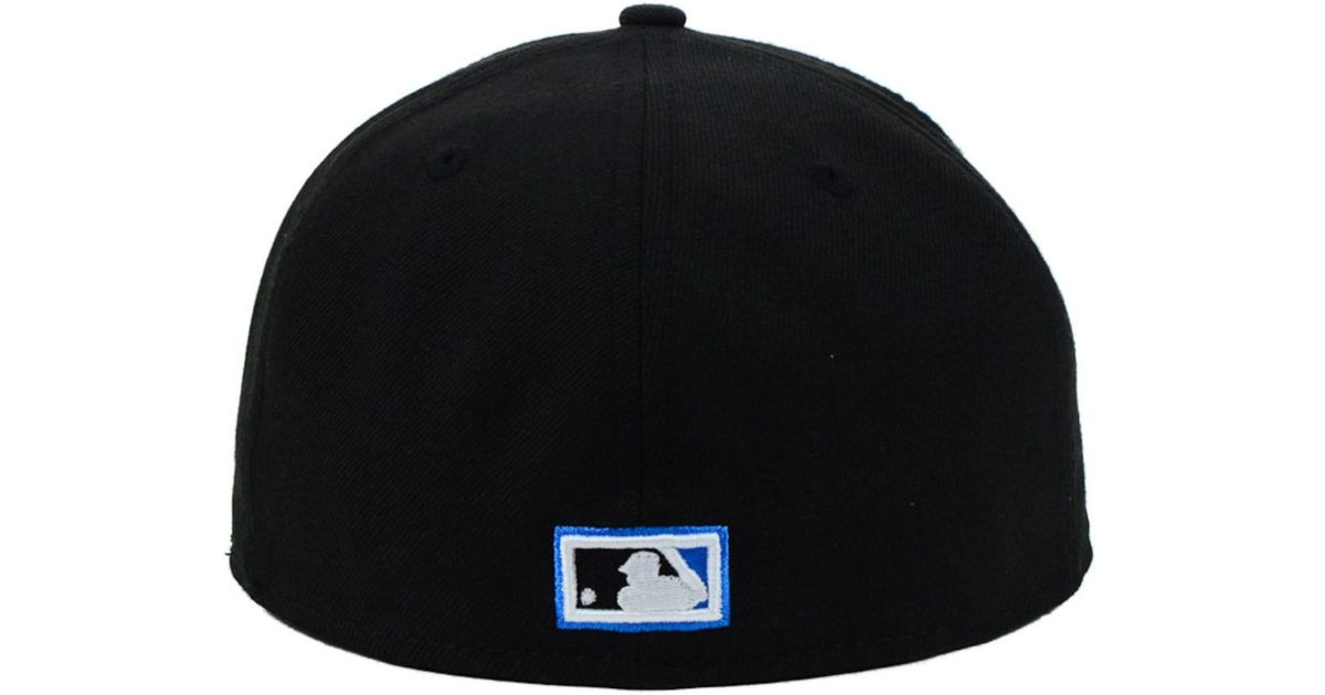 promo code f1cb9 aae64 ... good lyst ktz toronto blue jays mlb team heather 59fifty cap in black  for men 3a5c0