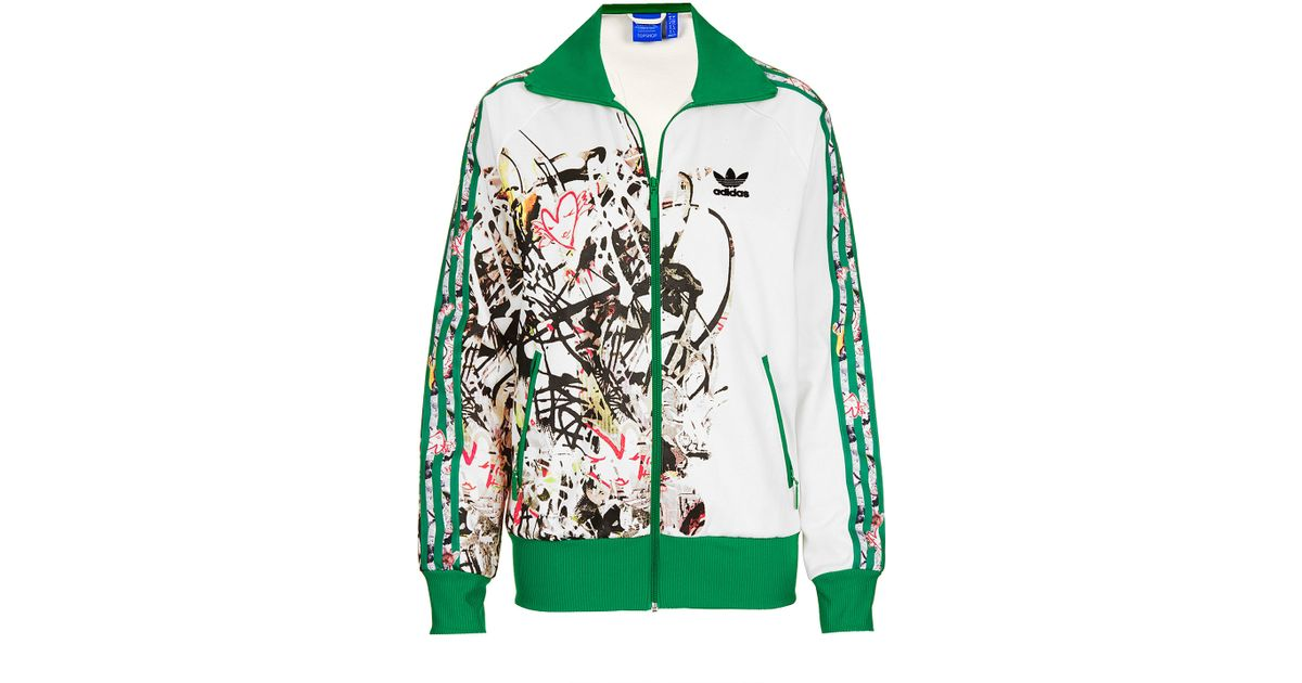 Lyst Topshop Tracksuit Top By X Adidas Originals In Green